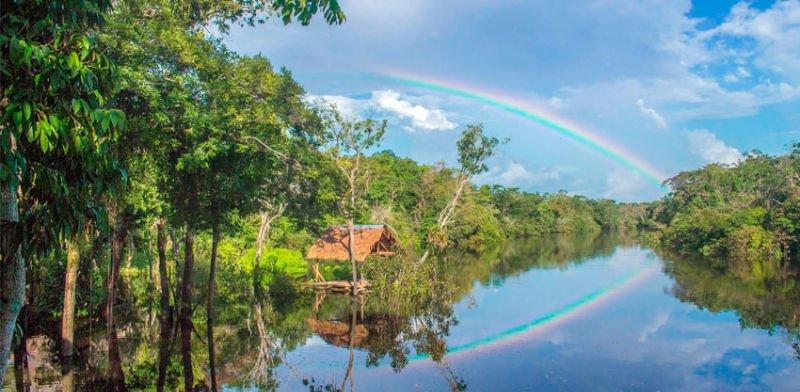 Arcoiris en la Amazonia